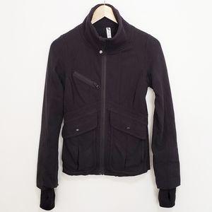 LULULEMON Black Zip-Up Sweater Jacket 89% Cotton